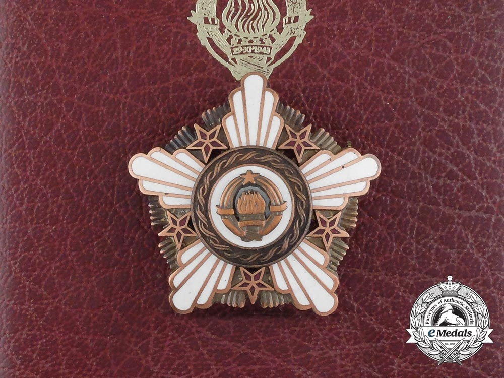 eMedals-A Yugoslavian Order of the Republic with Bronze Wreath with Case
