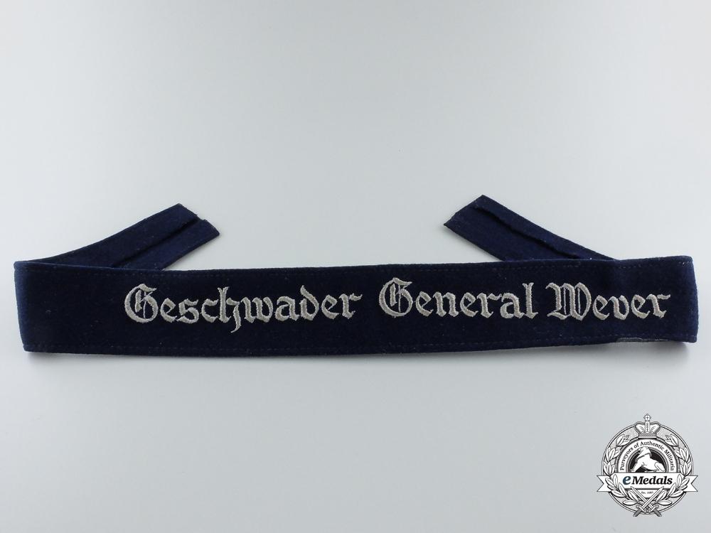 eMedals- A Geschwader General Wever Cufftitle; Enlisted Version