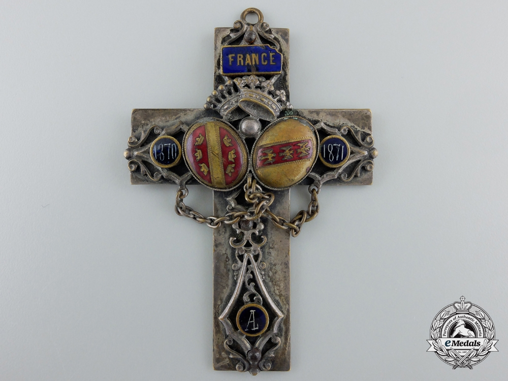 eMedals-A Franco-Prussian War French Padre's Crucifix