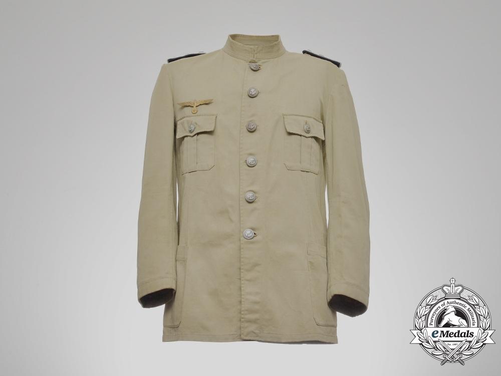 eMedals-A Second War Kriegsmarine Oberleutnant Tropical Engineer's Tunic 1943