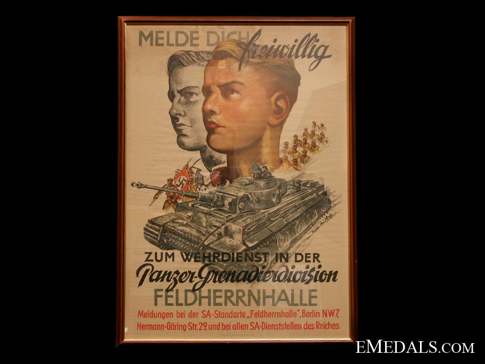 eMedals-Feldenherrnhalle Panzer Grenadier Division Recruiting Poster