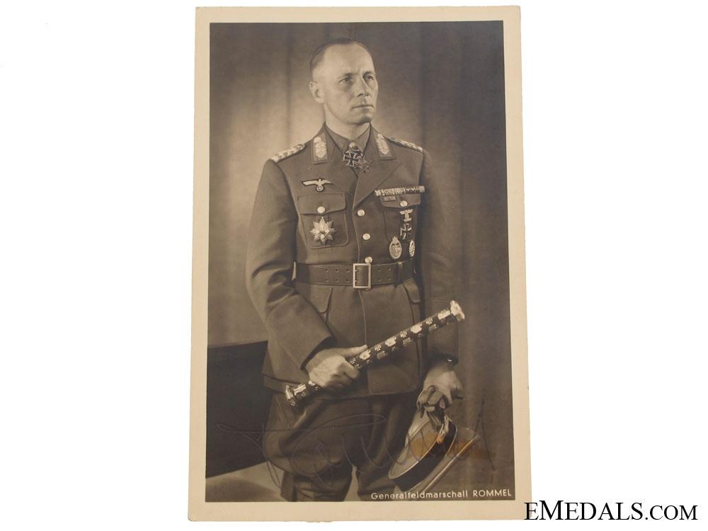 eMedals-Signed Postcard - Generalfieldmarschall Erwin Rommel