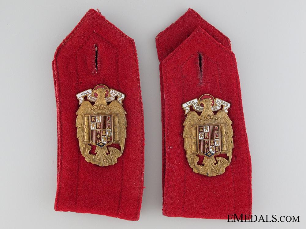 eMedals-General Franco Escort Regiment S. E. Shoulder Strap Pair