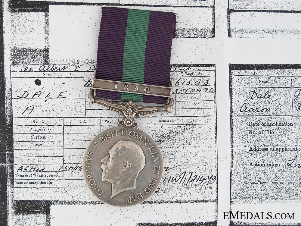 eMedals-General Service Medal 1918-1962 to the Manchester Regiment