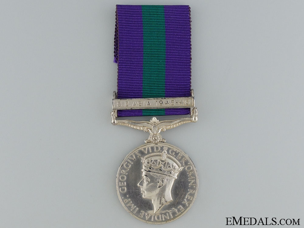 eMedals-General Service Medal 1918-1962; S.E. Asia