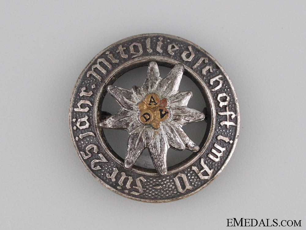 eMedals-German Alpine Association 25 Year Badge