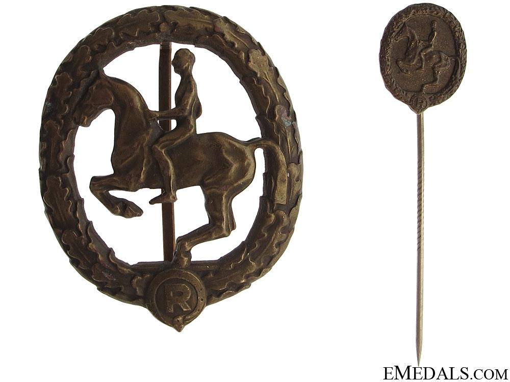eMedals-German Horseman Award with Miniature