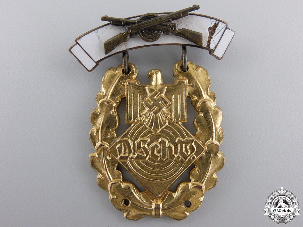 eMedals-German Shooting Association (DSchV) Large Shooting Award: Gold Grade Badge