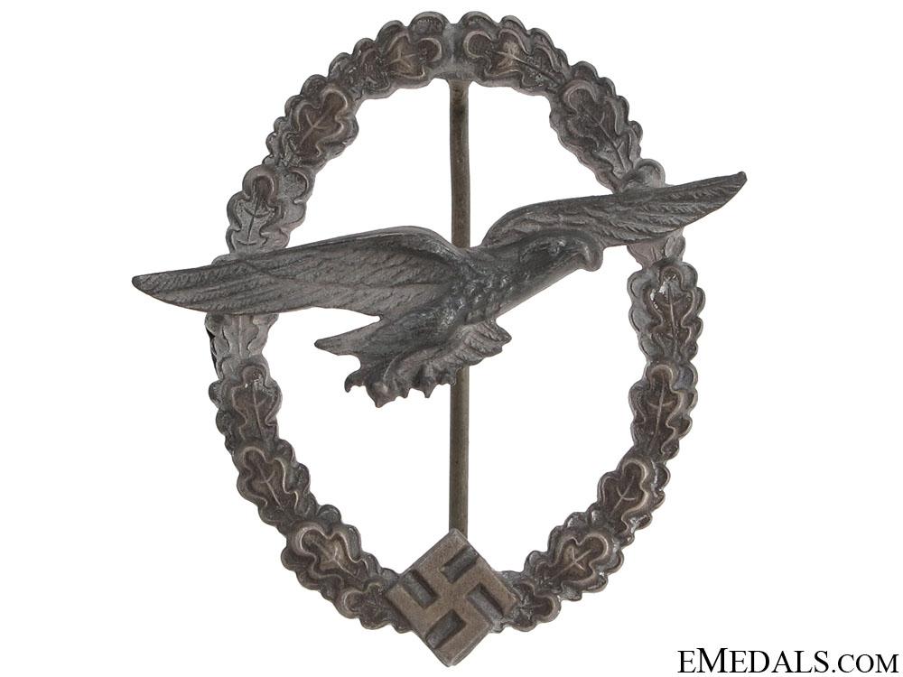 eMedals-Glider Pilot's Badge – Zinc