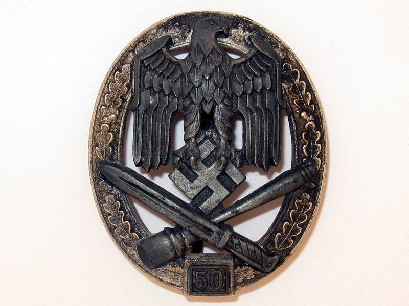 """eMedals-General Assault Badge """"50"""","""
