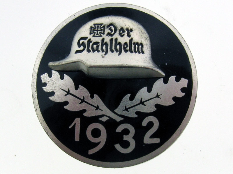 eMedals-Stahlhelm Membership Badge 1932