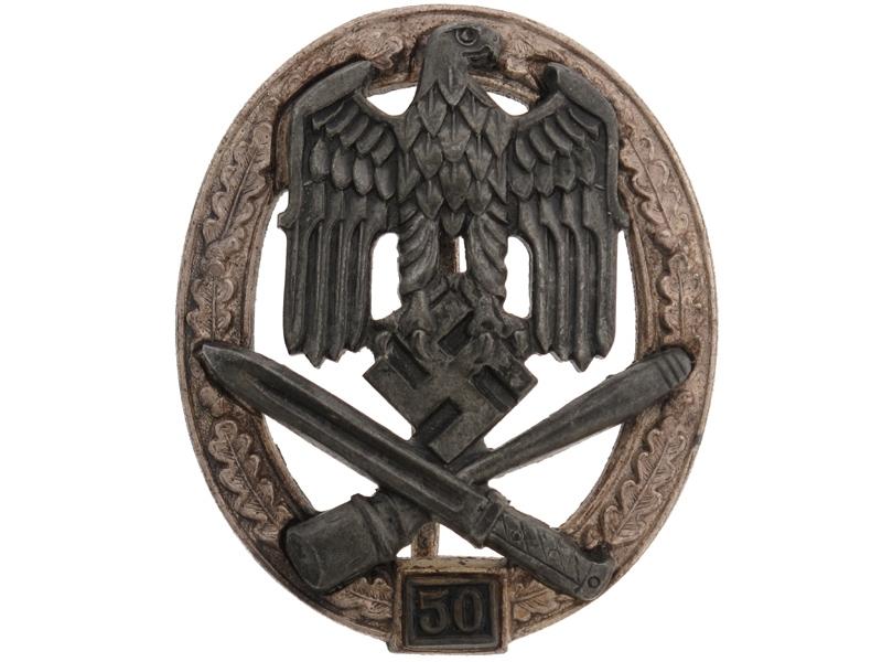 """eMedals-General Assault Badge """"50"""""""