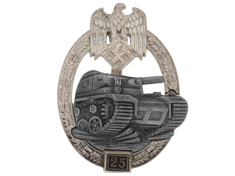 "eMedals-Tank Badge ""25"""