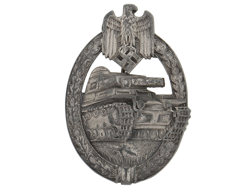 eMedals-Tank Badge-Silver Grade