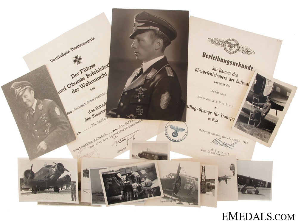 eMedals-Knight's Cross Preliminary Documents & Photos to a Luftwaffe Officer