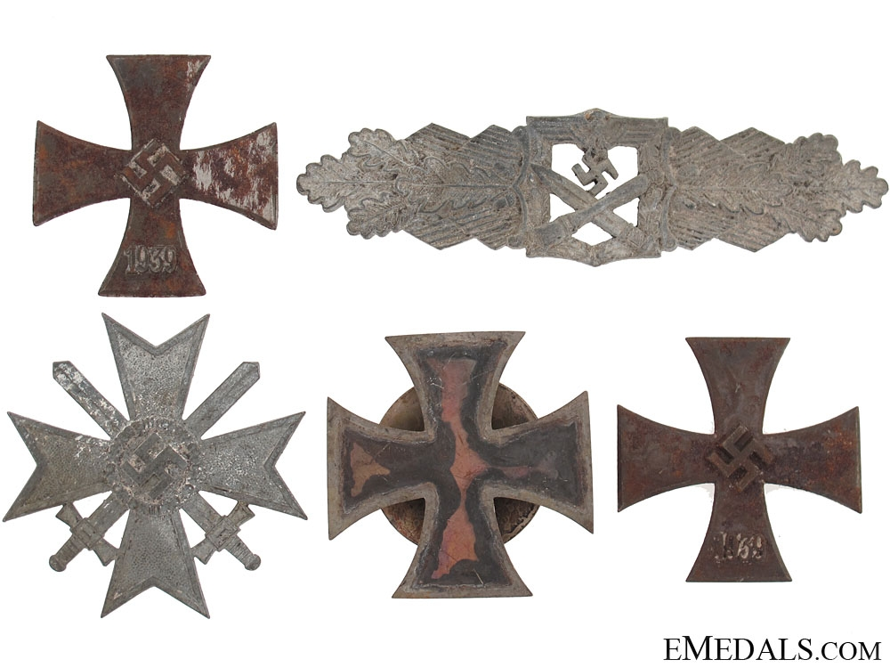 eMedals-Medals & Combat Clasp Recovered From the Bombed Zimmerman Factory