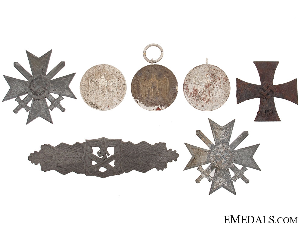 eMedals-Items Recovered from Bombed Zimmermann Factory