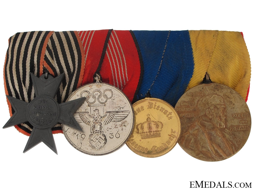 eMedals-Mounted Group of Four Awards