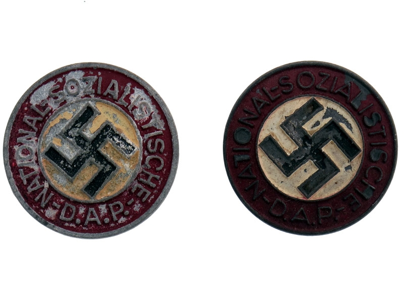 eMedals-Two NSDAP Badges