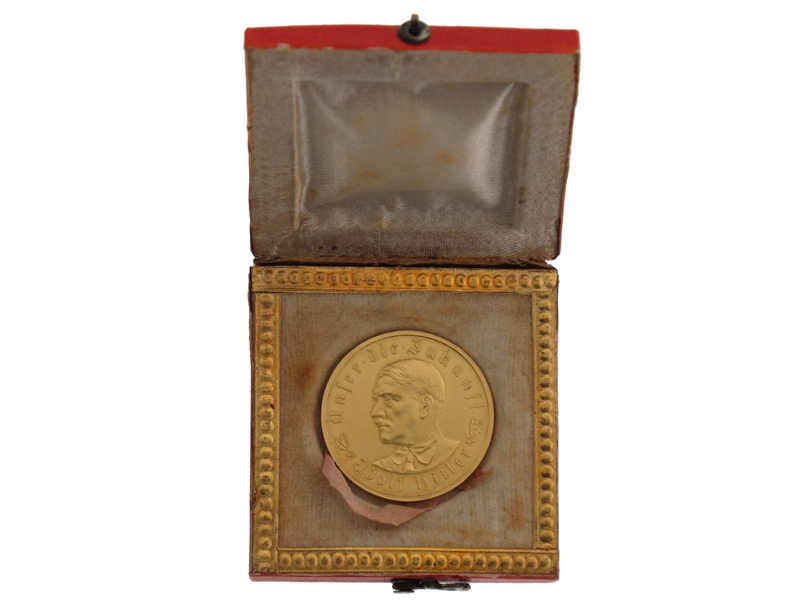 eMedals-Solid Gold AH Medallion 1933