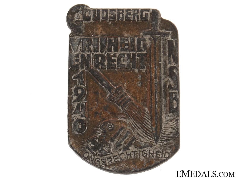 eMedals-Dutch NSB 1940 Badge/Tinnie