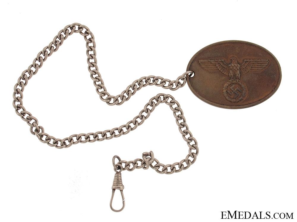"eMedals-Warrant Disc ""Staatliche Kriminalpolizei"""