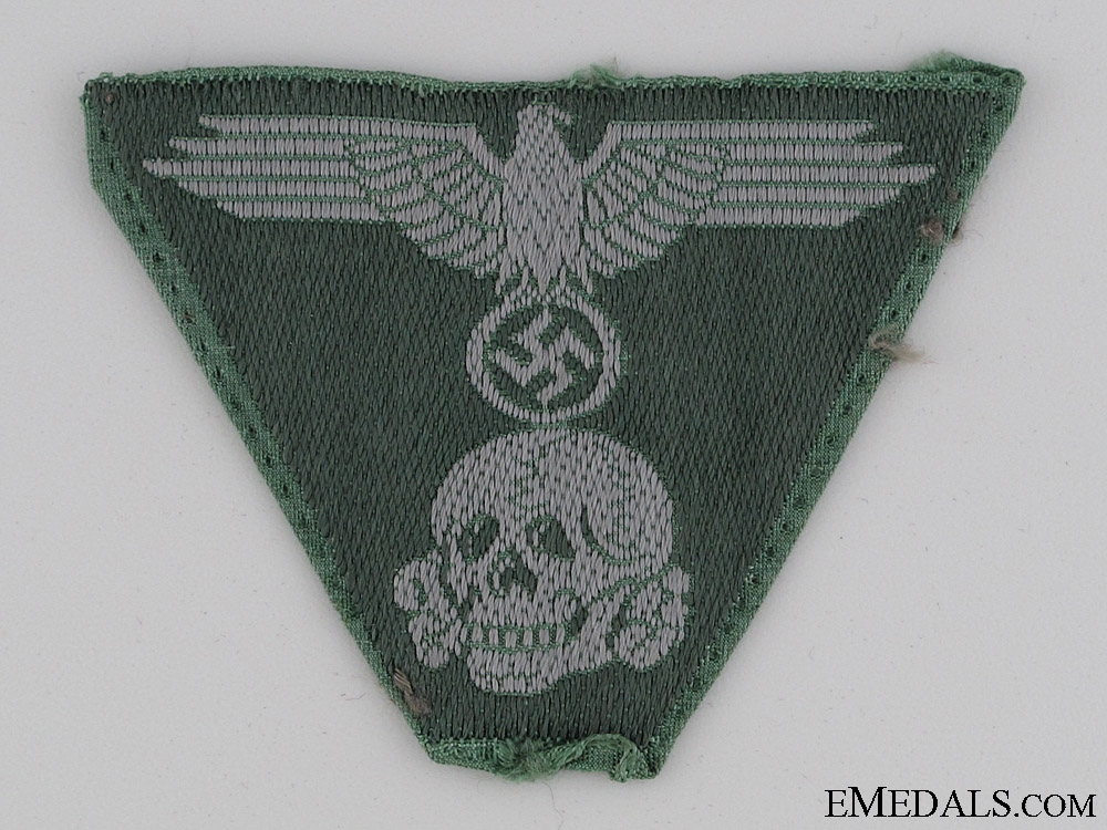 eMedals-Green BeVo Waffen-SS Cap Insignia
