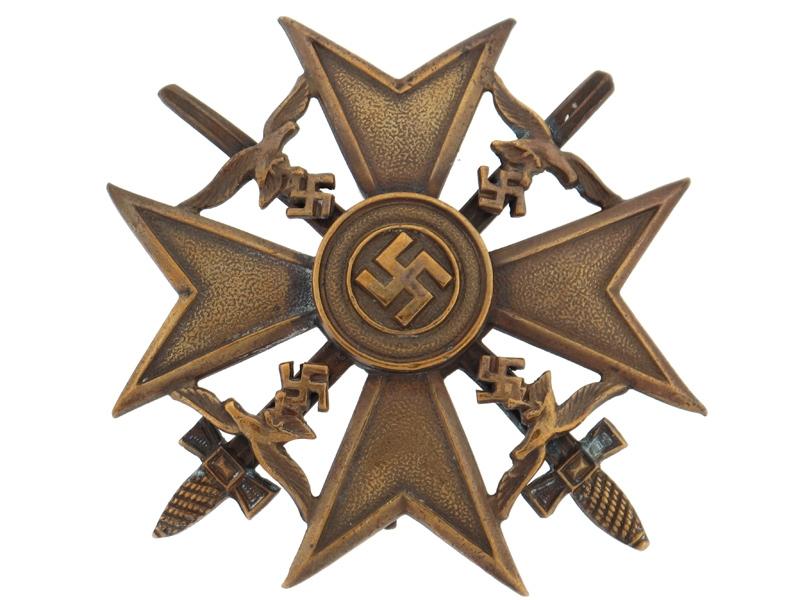 eMedals-Spanish Cross in Bronze w/Swords