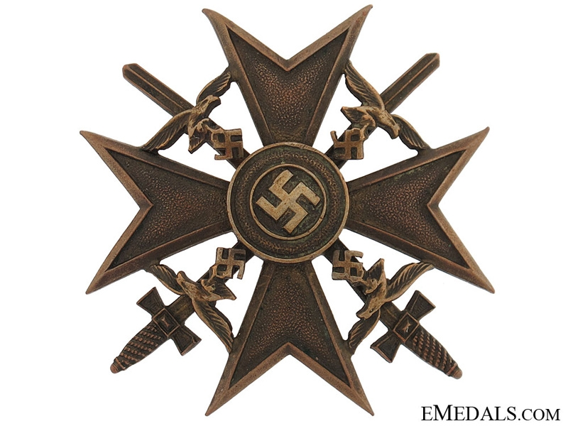 eMedals-Spanish Cross in Bronze with Swords