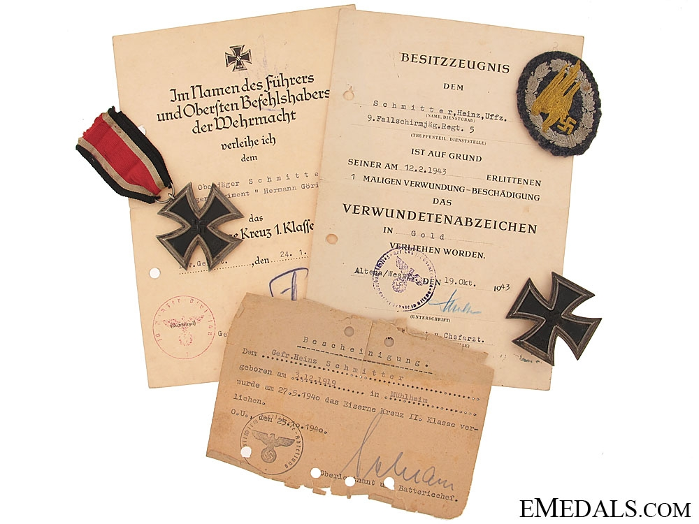 eMedals-Group of Awards & Documents, Paratrooper