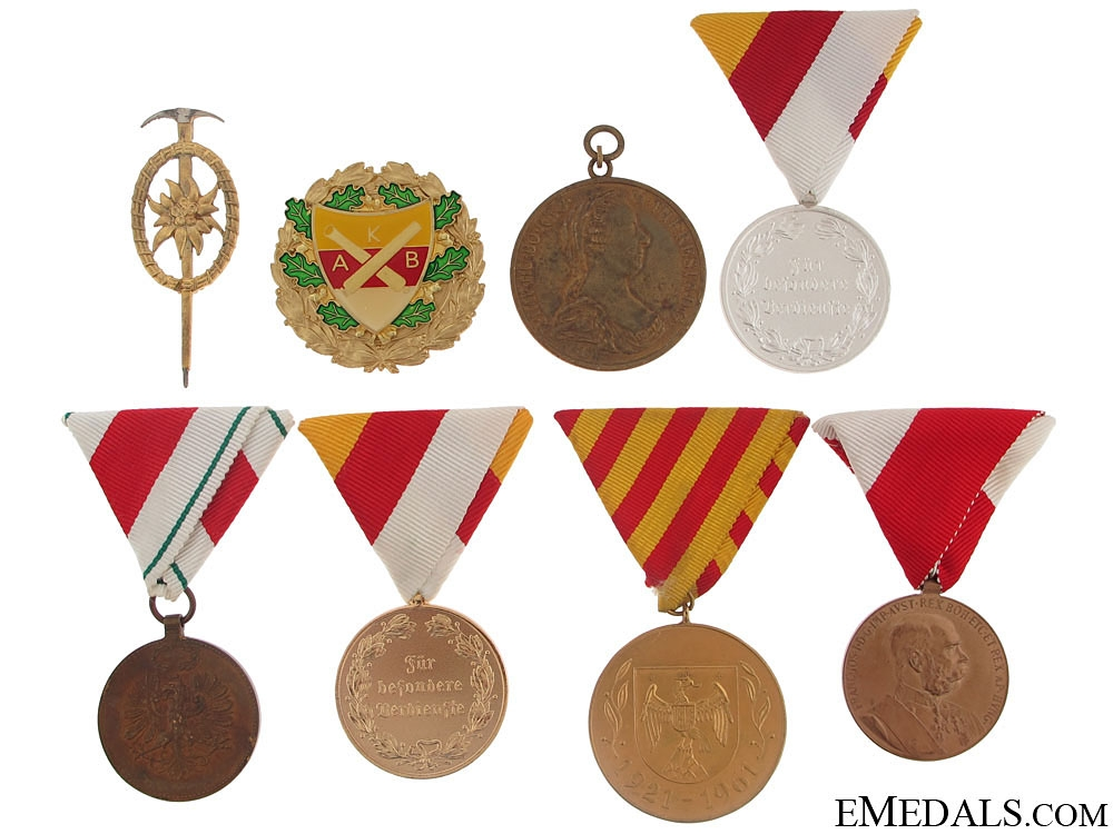 eMedals-Group of Eight Austrian Medals and Badges