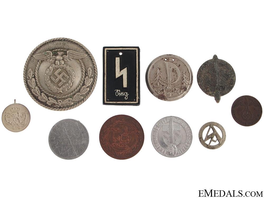 eMedals-Group of German Tinnies & Tokins