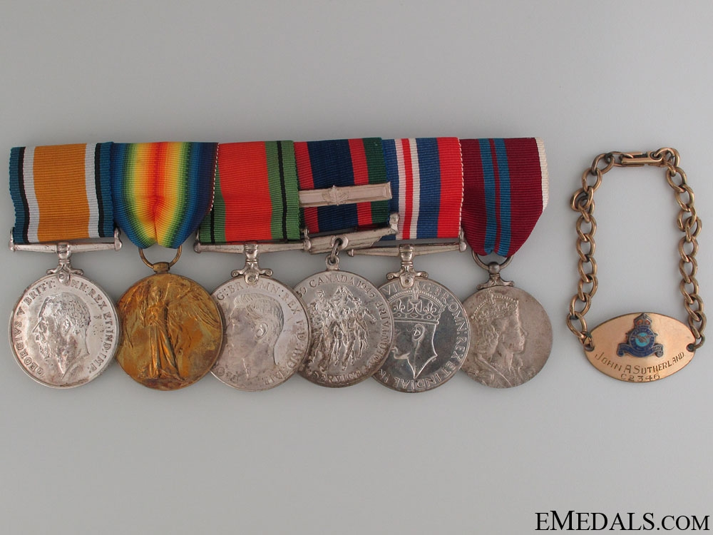 eMedals-Group of Six to J.A.Sutherland RAF & RCAF