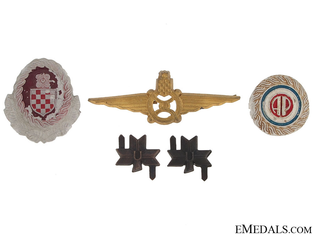 eMedals-Group of WWII Croatian Insignia