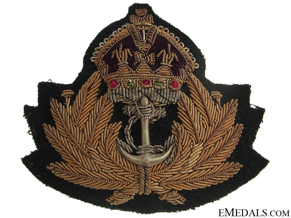 eMedals-GRVI Royal Canadian Navy Officer's Cap Badge