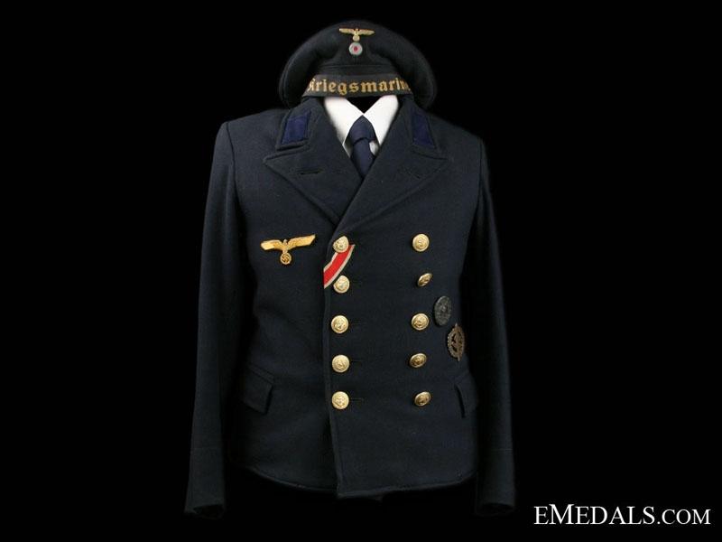 eMedals-Kriegsmarine Pea Coat & Cap
