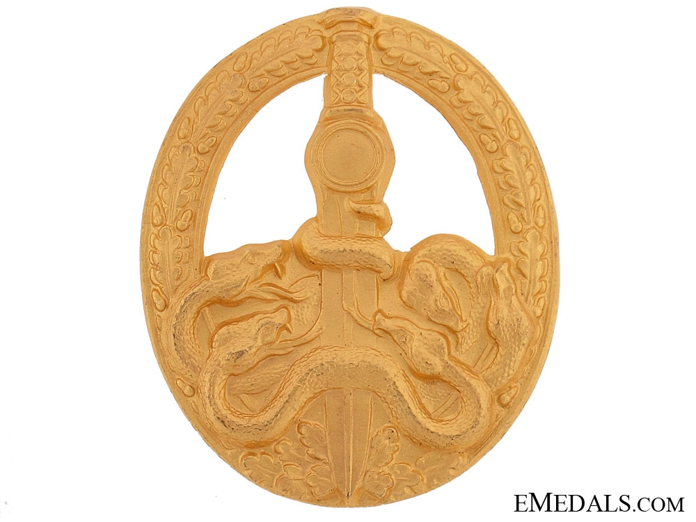 eMedals-Anti-partisan Badge-Gold Grade
