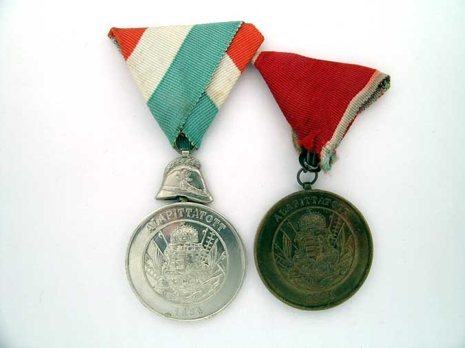 eMedals-TWO FIREMAN'S MEDALS