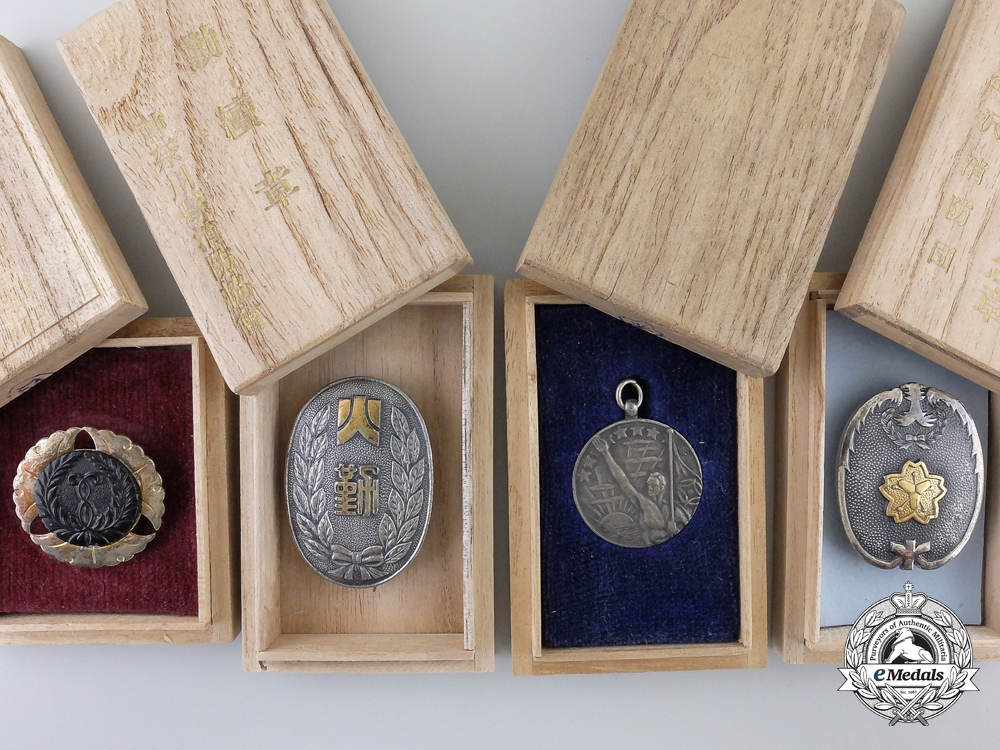 eMedals-Four Second War Japanese Civilian Badges