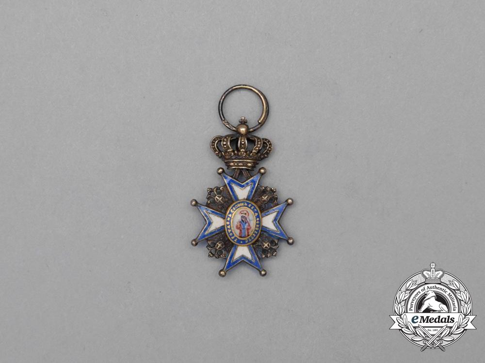 eMedals-A Serbian Miniature Order of St. Sava, by Vinc Mayer, Vienna