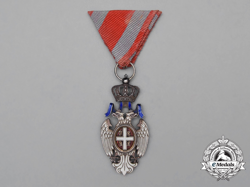 eMedals-Serbia, Kingdom. An Order of the White Eagle, 5th Class Knight, c.1914