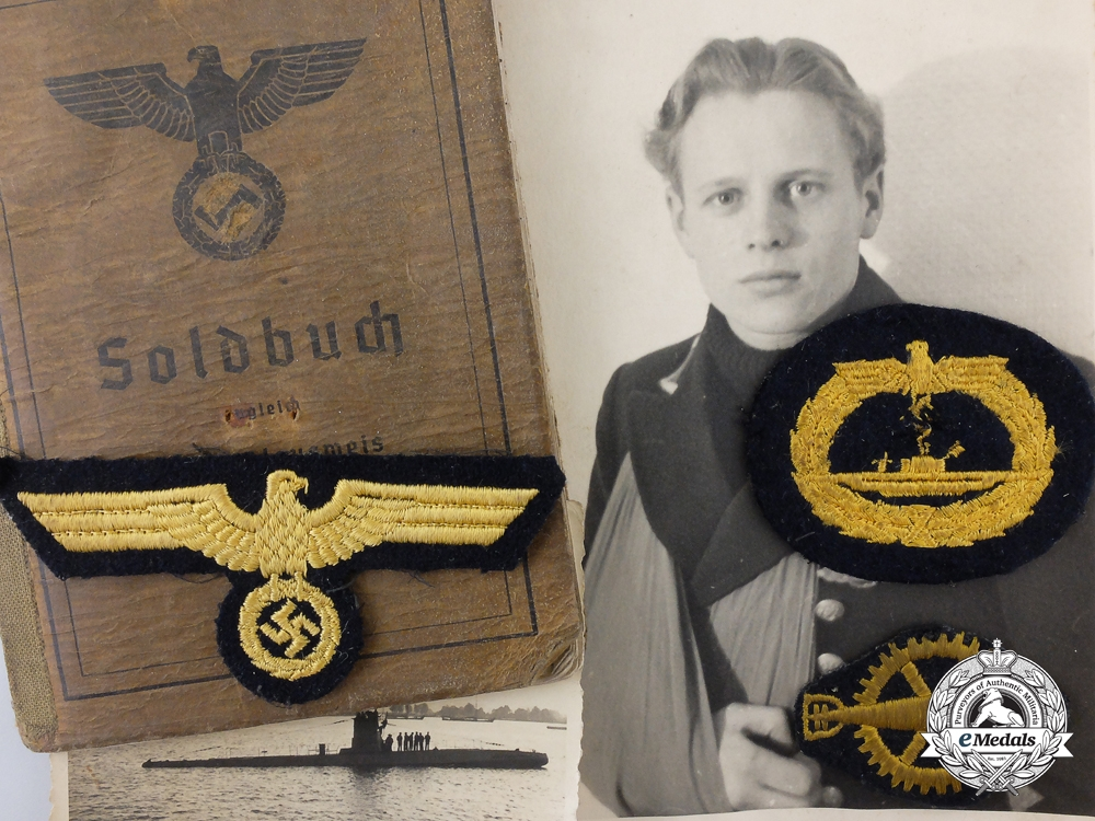 eMedals-Germany. A U-Boat Grouping Soldbuch, Documents, and Photos to U-21