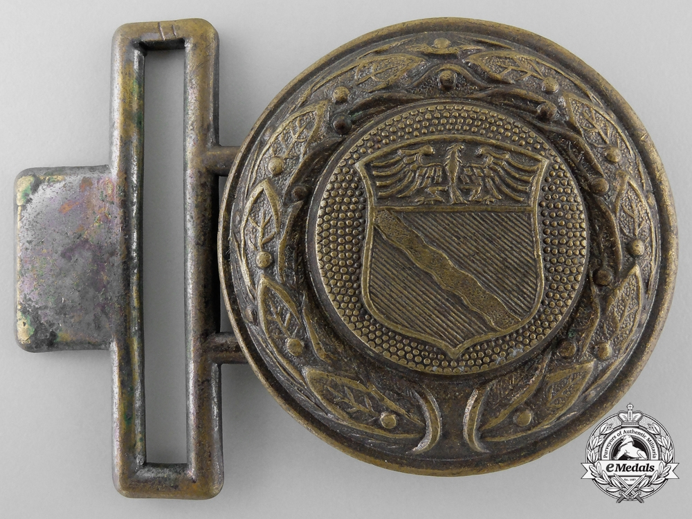 eMedals-A Rheinland Fire Defence Officer's Belt Buckle; Published Example