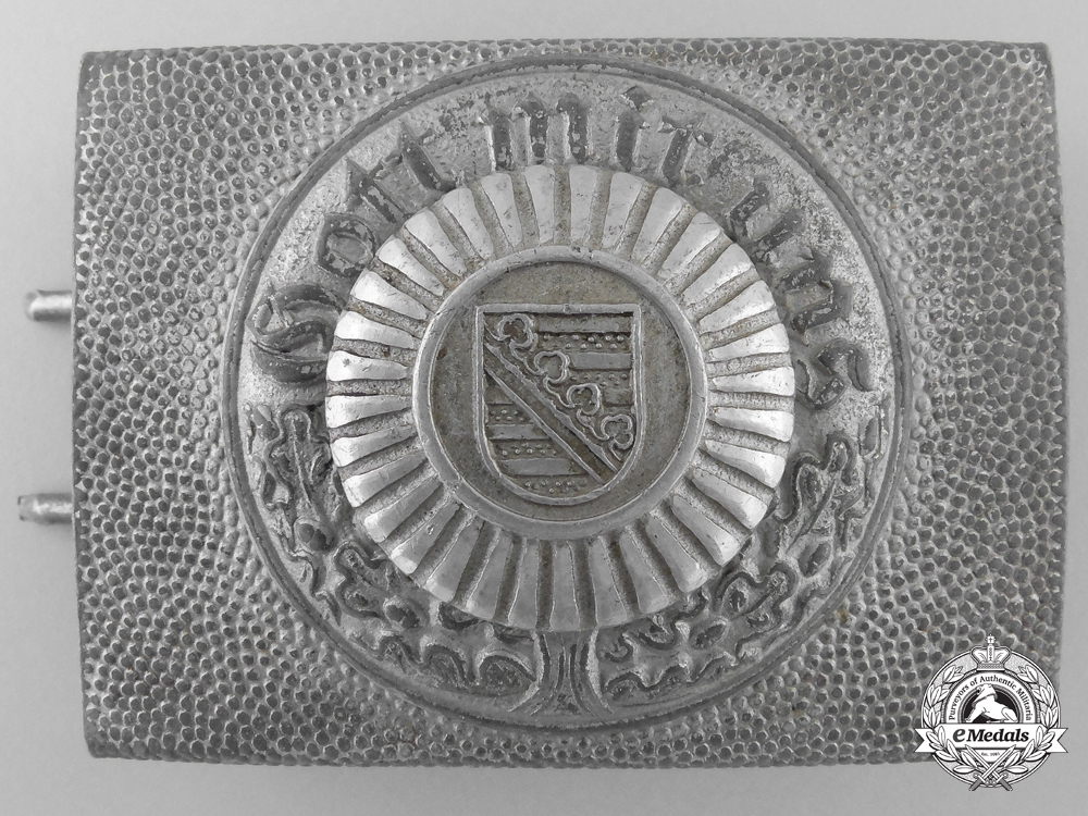 eMedals-A Saxon Fire Brigade Belt Buckle