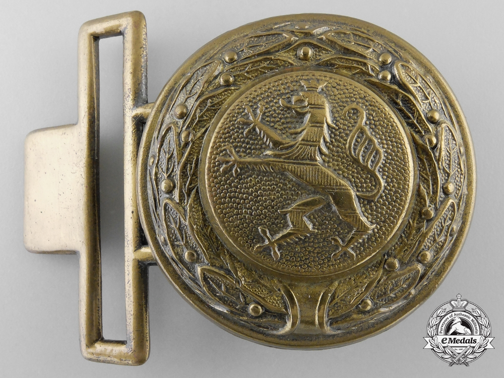 eMedals-A Third Reich Period Hessen Fire Defence Officer's Belt Buckle