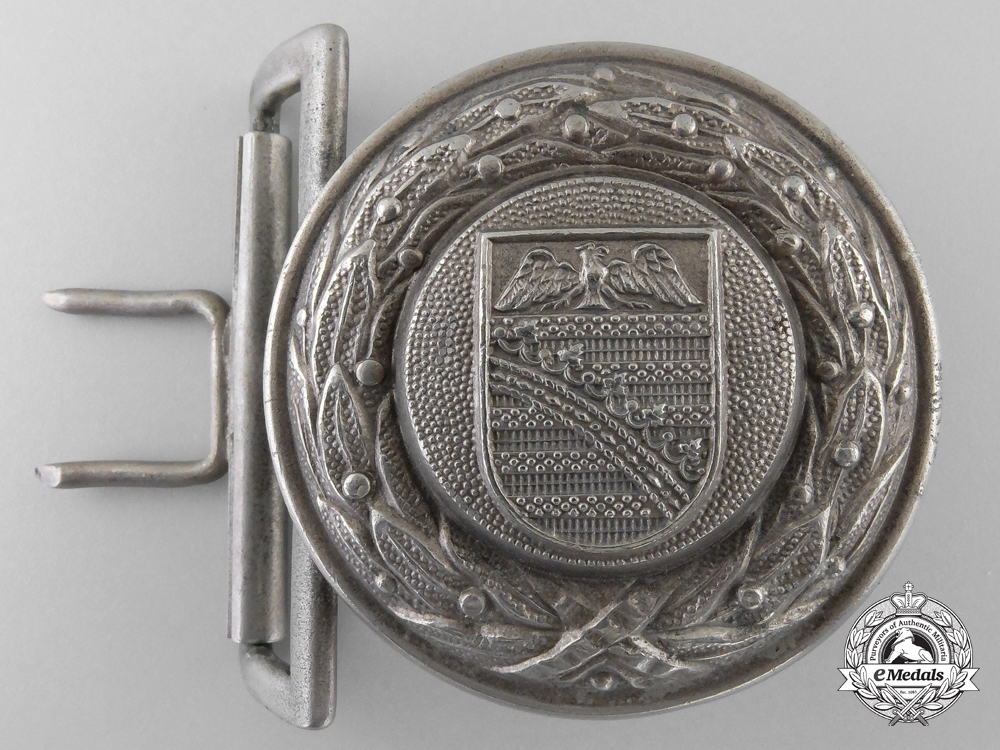 eMedals-A Province of Saxony Fire Defence Officer's Belt Buckle