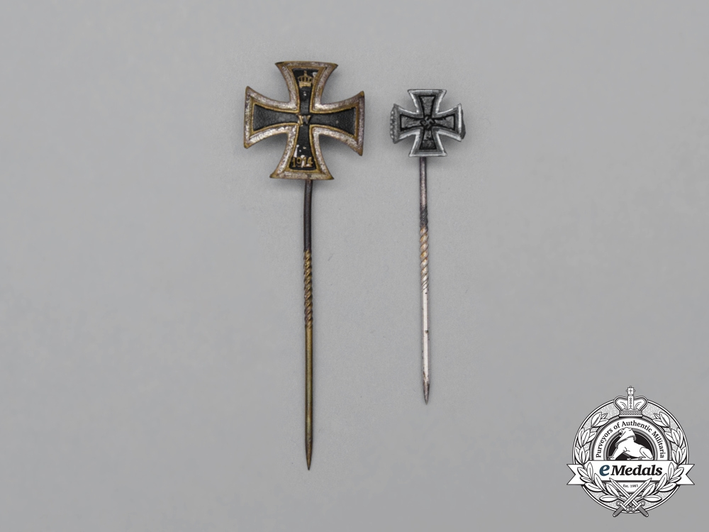 eMedals-A First and Second War German Iron Cross First Class Stickpins