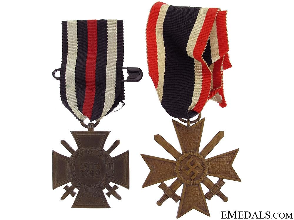 eMedals-Hindenburg Cross & War Merit Cross with Swords