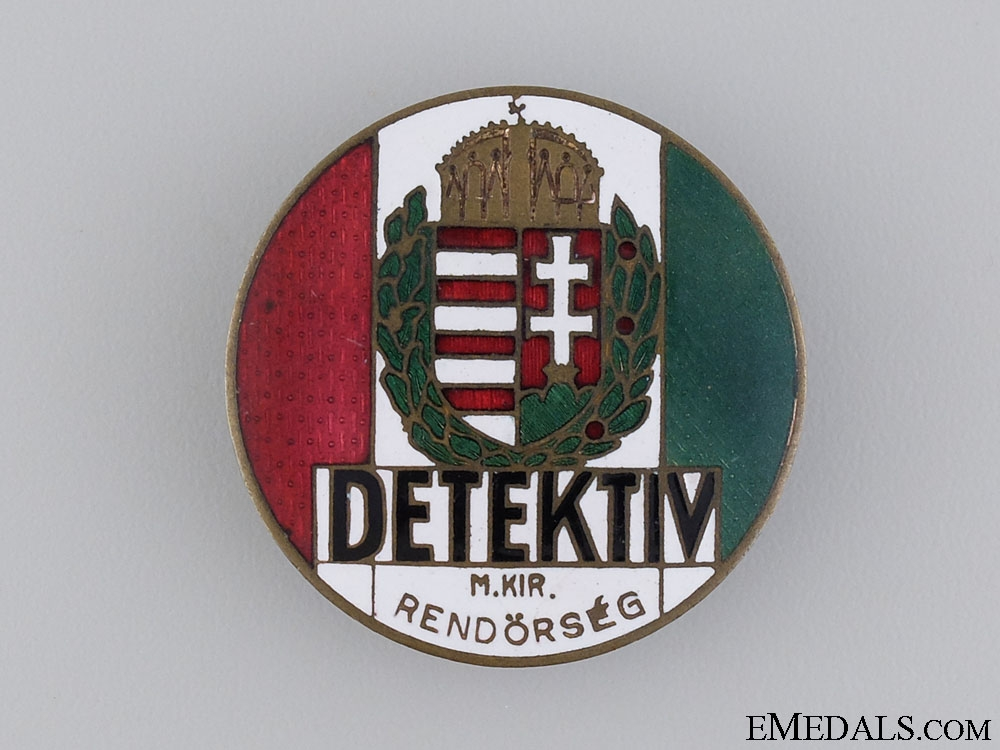 eMedals-Hungarian DETEKTIV Badge, 1930's Period