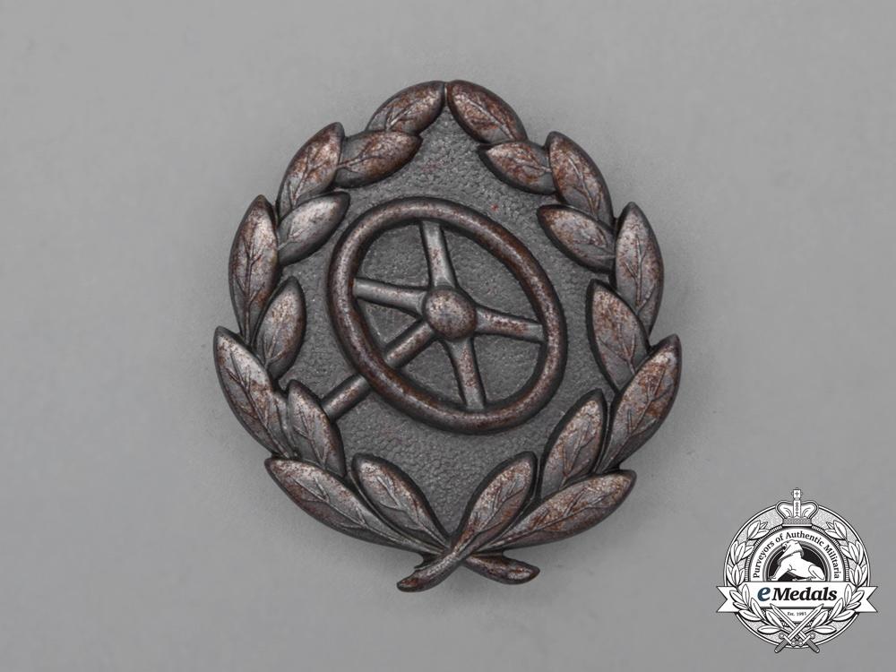 eMedals-A Second War German Silver Grade Driver's Proficiency Badge